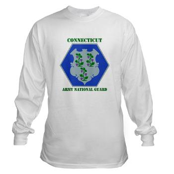 CONNECTICUTARNG - A01 - 03 - DUI - Connecticut Army National Guard with text Long Sleeve T-Shirt