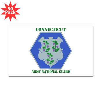 CONNECTICUTARNG - M01 - 01 - DUI - Connecticut Army National Guard with text Sticker (Rectangle 50 pk)