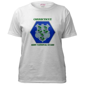 CONNECTICUTARNG - A01 - 04 - DUI - Connecticut Army National Guard with text Women's T-Shirt