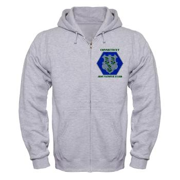 CONNECTICUTARNG - A01 - 03 - DUI - Connecticut Army National Guard with text Zip Hoodie