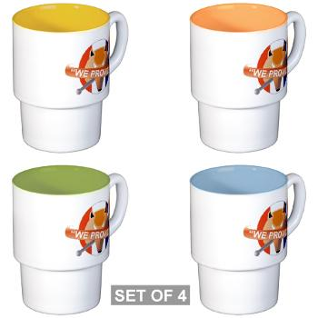 CRB - M01 - 03 - DUI - Columbia Recruiting Bn - Stackable Mug Set (4 mugs)