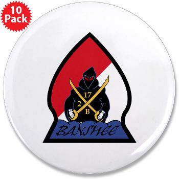 "CRB - M01 - 01 - DUI - Cleveland Recruiting Battalion - 3.5"" Button (10 pack)"