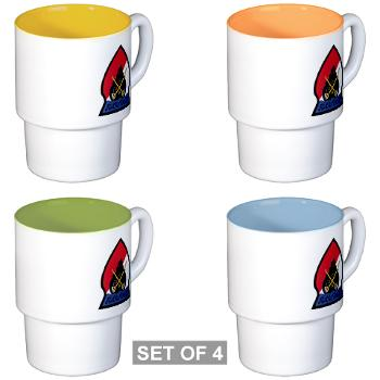CRB - M01 - 04 - DUI - Cleveland Recruiting Battalion - Stackable Mug Set (4 mugs)