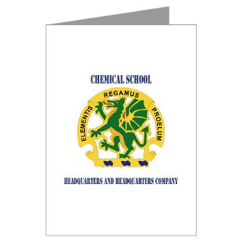 CSHQHQC - M01 - 02 - DUI - Chemical School - HQ and HQ Coy with Text - Greeting Cards (Pk of 10)