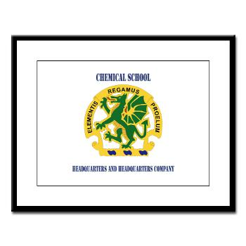 CSHQHQC - M01 - 02 - DUI - Chemical School - HQ and HQ Coy with Text - Large Framed Print