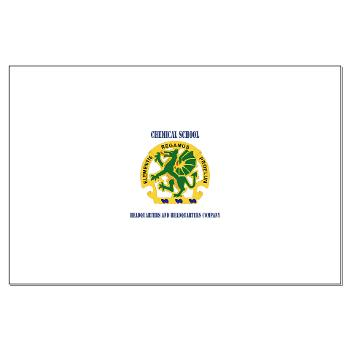 CSHQHQC - M01 - 02 - DUI - Chemical School - HQ and HQ Coy with Text - Large Poster