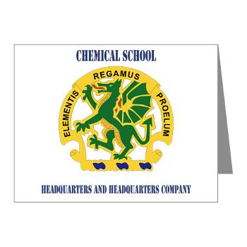 CSHQHQC - M01 - 02 - DUI - Chemical School - HQ and HQ Coy with Text - Note Cards (Pk of 20)