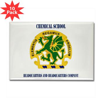 CSHQHQC - M01 - 01 - DUI - Chemical School - HQ and HQ Coy with Text - Rectangle Magnet (10 pack)