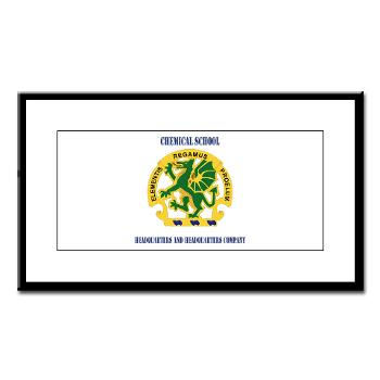 CSHQHQC - M01 - 02 - DUI - Chemical School - HQ and HQ Coy with Text - Small Framed Print