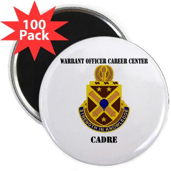 "CWOCC - M01 - 01 - DUI - Warrant Officer Career Center - Cadre with Text - 2.25"" Magnet (100 pack)"