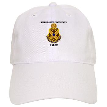 CWOCC - A01 - 01 - DUI - Warrant Officer Career Center - Cadre with Text - Cap