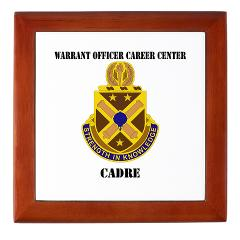 CWOCC - M01 - 03 - DUI - Warrant Officer Career Center - Cadre with Text - Keepsake Box