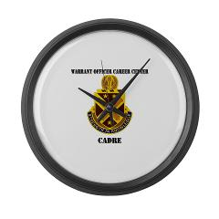 CWOCC - M01 - 03 - DUI - Warrant Officer Career Center - Cadre with Text - Large Wall Clock
