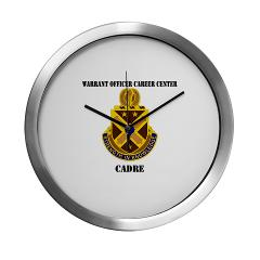 CWOCC - M01 - 03 - DUI - Warrant Officer Career Center - Cadre with Text - Modern Wall Clock