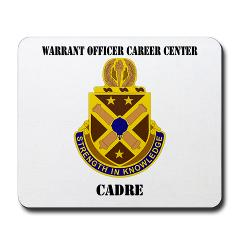 CWOCC - M01 - 03 - DUI - Warrant Officer Career Center - Cadre with Text - Mousepad