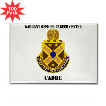 CWOCC - M01 - 01 - DUI - Warrant Officer Career Center - Cadre with Text - Rectangle Magnet (100 pack)