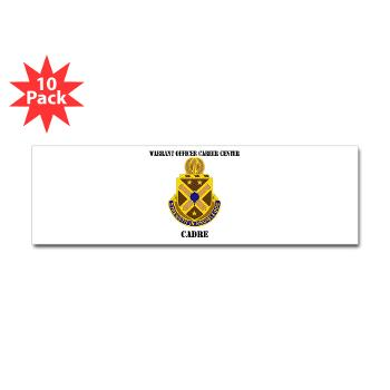 CWOCC - M01 - 01 - DUI - Warrant Officer Career Center - Cadre with Text - Sticker (Bumper 10 pk)