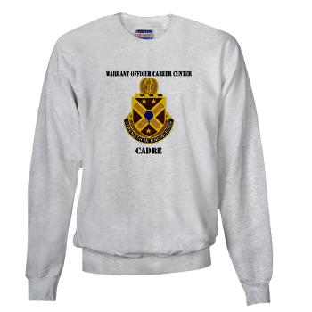 CWOCC - A01 - 03 - DUI - Warrant Officer Career Center - Cadre with Text - Sweatshirt