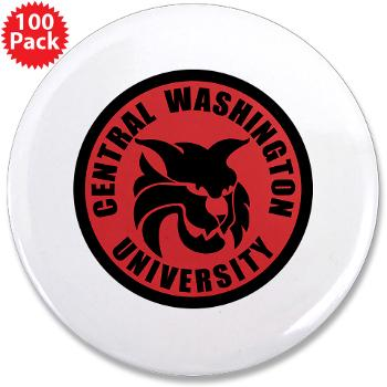 "CWU - M01 - 01 - SSI - ROTC - Central Washington University - 3.5"" Button (100 pack)"