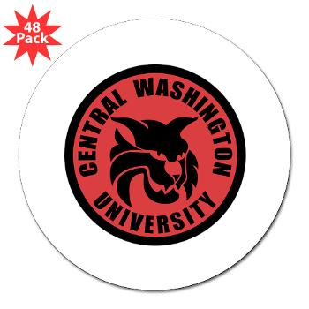 "CWU - M01 - 01 - SSI - ROTC - Central Washington University - 3"" Lapel Sticker (48 pk)"
