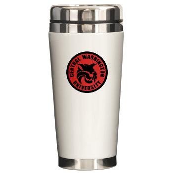 CWU - M01 - 03 - SSI - ROTC - Central Washington University - Ceramic Travel Mug