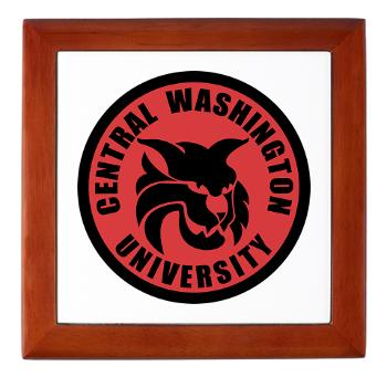 CWU - M01 - 03 - SSI - ROTC - Central Washington University - Keepsake Box