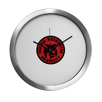 CWU - M01 - 03 - SSI - ROTC - Central Washington University - Modern Wall Clock