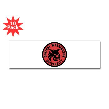 CWU - M01 - 01 - SSI - ROTC - Central Washington University - Sticker (Bumper 10 pk)