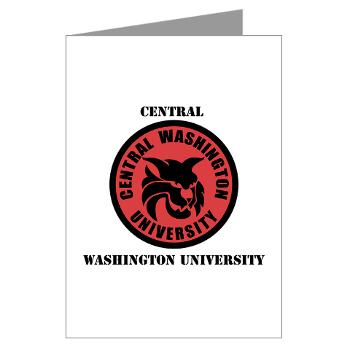 CWU - M01 - 02 - SSI - ROTC - Central Washington University with Text - Greeting Cards (Pk of 20)