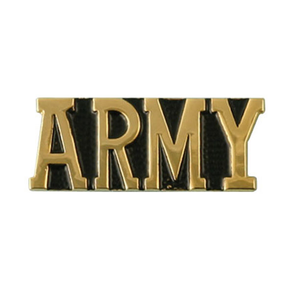 Army ARMY Bar Lapel Pin 1/2 x 1 1/8  Quantity 10