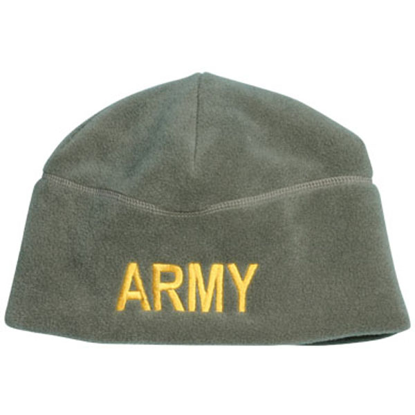 Army ARMY Letters Direct Embroidered ACU Fleece Beanie  Quantity 5