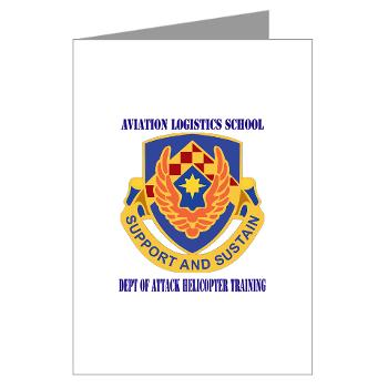 DAHT - M01 - 02 - DUI - Dept of Attack Helicopter Training with Text Greeting Cards (Pk of 10)