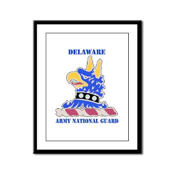 DELAWAREARNG - M01 - 02 - DUI - Delaware Army National Guard with text - Framed Panel Print
