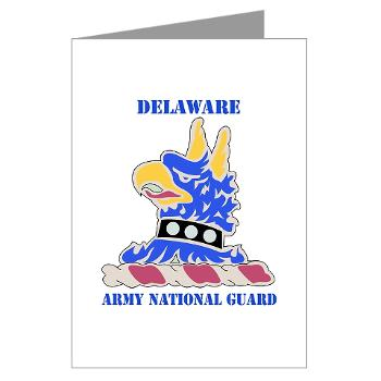 DELAWAREARNG - M01 - 02 - DUI - Delaware Army National Guard with text - Greeting Cards (Pk of 10)