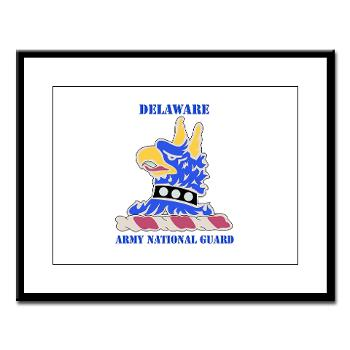 DELAWAREARNG - M01 - 02 - DUI - Delaware Army National Guard with text - Large Framed Print