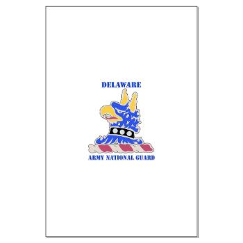 DELAWAREARNG - M01 - 02 - DUI - Delaware Army National Guard with text - Large Poster