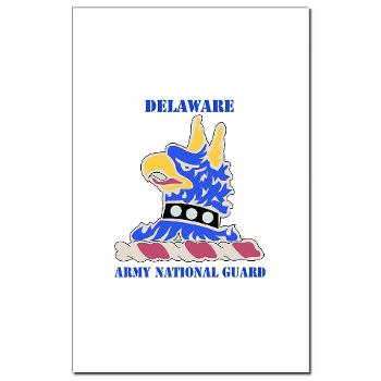 DELAWAREARNG - M01 - 02 - DUI - Delaware Army National Guard with text - Mini Poster Print