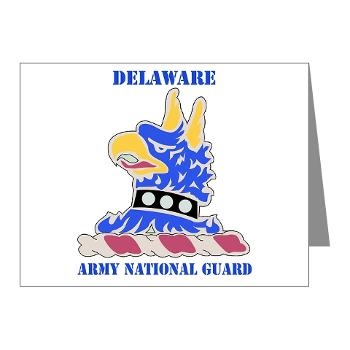 DELAWAREARNG - M01 - 02 - DUI - Delaware Army National Guard with text - Note Cards (Pk of 20)