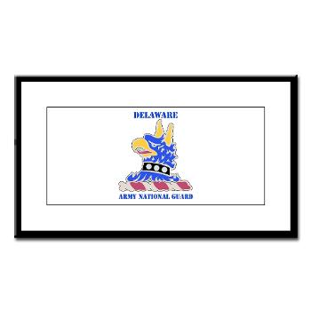 DELAWAREARNG - M01 - 02 - DUI - Delaware Army National Guard with text - Small Framed Print