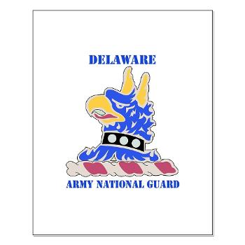 DELAWAREARNG - M01 - 02 - DUI - Delaware Army National Guard with text - Small Poster