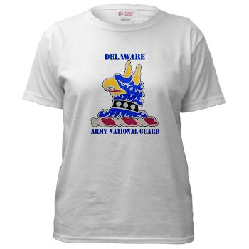 DELAWAREARNG - A01 - 04 - DUI - Delaware Army National Guard with text - Women's T-Shirt
