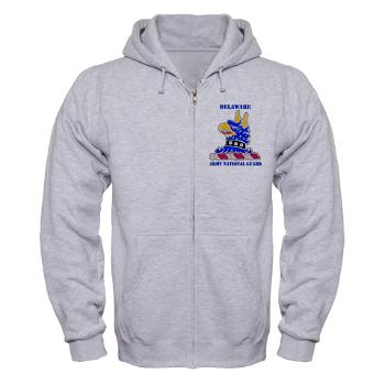DELAWAREARNG - A01 - 03 - DUI - Delaware Army National Guard with text - Zip Hoodie