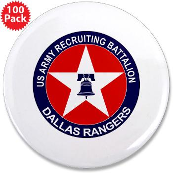 "DRB - M01 - 01 - DUI - Dallas Recruiting Battalion - 3.5"" Button (100 pack)"