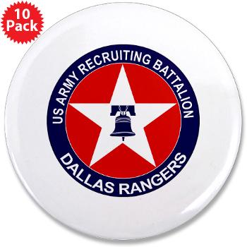 "DRB - M01 - 01 - DUI - Dallas Recruiting Battalion - 3.5"" Button (10 pack)"