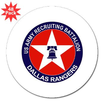 "DRB - M01 - 01 - DUI - Dallas Recruiting Battalion - 3"" Lapel Sticker (48 pk)"