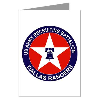 DRB - M01 - 02 - DUI - Dallas Recruiting Battalion - Greeting Cards (Pk of 20)