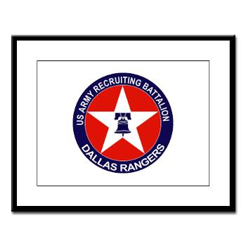 DRB - M01 - 02 - DUI - Dallas Recruiting Battalion - Large Framed Print