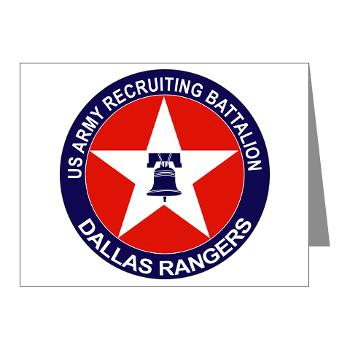 DRB - M01 - 02 - DUI - Dallas Recruiting Battalion - Note Cards (Pk of 20)