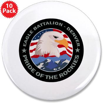 "DRBN - M01 - 01 - DUI - Denver Recruiting Battalion - 3.5"" Button (10 pack)"