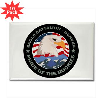 DRBN - M01 - 01 - DUI - Denver Recruiting Battalion - Rectangle Magnet (10 pack)